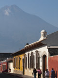 Colonial Buildings and Volcan De Agua, Antigua, Guatemala, Central America Photographic Print by Sergio Pitamitz