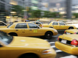 Moving New York Taxis, Manhattan, New York, United States of America, North America Photographic Print by  Purcell-Holmes