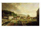French Royal Textile Factory, Jouy-en-Josas, France, 1806 Giclee Print by Jean-Baptiste Huet
