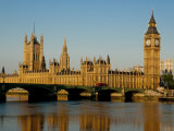 Houses of Parliament and Big Ben, Westminster, London Reproduction photographique par Charles Bowman