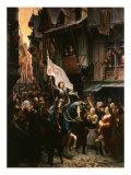 Entrance of Saint Joan of Arc, 1412-31, into Orleans, France Reproduction procédé giclée par Jean-jacques Scherrer