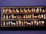The Standard of Ur, Sumerian, Southern Iraq, c. 2500 BC Fotografisk tryk