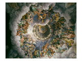 View of Olympus, Home of the Gods, Fresco in the Room of the Giants Giclee Print by Giulio Romano