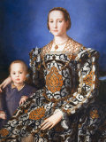Eleanor of Toledo, with her son Jean de Medici, c. 1545 Reproduction photographique par Agnolo Bronzino