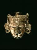 God Xipe Totec, Gold Mask, called Nuestro Senor el Desollado Photographic Print