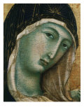 Face of Virgin Mary, from Madonna with Child altarpiece, Convent of San Domenico Giclée-tryk af  Duccio di Buoninsegna