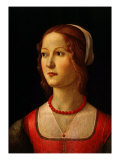 Portrait of Young Woman, 1485 Giclée-tryk af Domenico Ghirlandaio