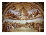 Disputa del Sacramento Reproduction procédé giclée par  Raphael