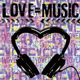 Love Music Konst av Louise Carey