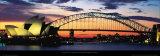 Opera House and Harbor Bridge, Sydney Posters av Marc Segal