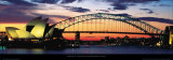 Opera House and Harbor Bridge, Sydney 高画質プリント : マルク・シーガル