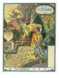October Giclee Print by Eugene Grasset