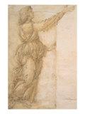 Study of an Angel Reproduction procédé giclée par Sandro Botticelli
