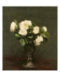 White Roses, 1875 Giclée-tryk af Henri Fantin-Latour
