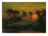 Sunset through Trees, c.1855 Giclée-tryk af Francis Danby