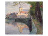 Autumn in Bruges Gicléetryck av Omer Coppens