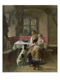 Whose Dinner is it Giclee Print by Adolf Eberle