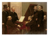 Around the Piano, 1885 Lámina giclée por Henri Fantin-Latour