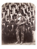 Isambard Kingdom Brunel, Standing in Front of the Launching Chains of the 'Great Eastern', 1857 Reproduction procédé giclée par Robert Howlett