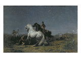 The Horse Thieves Giclee Print by Eugene Delacroix