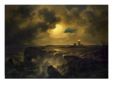 Helgoland in Moonlight, 1851 Giclee Print by Christian Ernst Bernhard Morgenstern