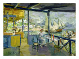 A Cafe in Gursuph, 1914 Giclee Print by Konstantin A. Korovin