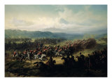 Charge of the Light Brigade, 25th October 1854 Giclee Print by Friedrich Kaiser