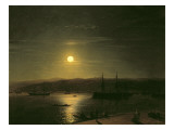 View of Constantinople Giclée-tryk af Ivan Konstantinovich Aivazovsky