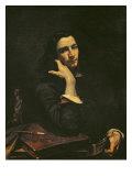 The Man with the Leather Belt, Portrait of the Artist, c.1846 Reproduction procédé giclée par Gustave Courbet