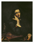 The Man with the Leather Belt, Portrait of the Artist, c.1846 Giclee Print by Gustave Courbet