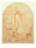 Alexander and Thais on their Drunken Rampage through Persepolis Giclée-tryk af Vittorio Maria Bigari