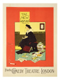 Advertising 'The New Woman' by Sydney Grundy, at the Comedy Theatre, London Giclee Print by Albert Morrow