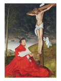 Albert, Cardinal Elector of Mainz at the Foot of the Cross Giclee Print by Lucas Cranach the Elder