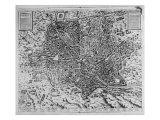 Map of Rome, 1579 Reproduction procédé giclée par Mario Cartaro