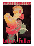 Poster Advertising La Loie Fuller at the Folies Bergere Impressão giclée por Jules Chéret