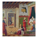 The Birth of the Virgin, 1504-08 Giclée-tryk af Vittore Carpaccio