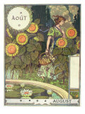 August Giclee Print by Eugene Grasset