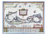 Map of Bermuda Giclée-vedos