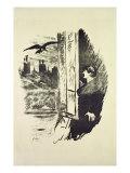 Illustration for 'The Raven', by Edgar Allen Poe, 1875 Reproduction procédé giclée par Edouard Manet
