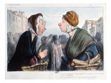 A Nasty Cold in the Head', Caricature from 'Types Parisiens', mid 19th century Lámina giclée por Honore Daumier