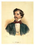 Johann Strauss the Elder Giclee Print by Josef Nikolaus Kriehuber