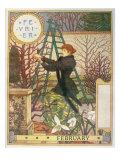 February Giclee Print by Eugene Grasset