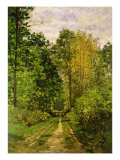 Wooded Path, 1865 Giclee Print by Claude Monet