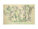 The Large Trees at Jas de Bouffan, c.1885-87 Reproduction procédé giclée par Paul Cézanne