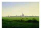 Meadows near Greifswald Giclée-tryk af Caspar David Friedrich