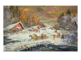 The Russian Winter, 1900-10 Giclee Print by Konstantin A. Korovin