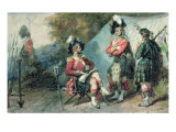 Officers of the 79th Highlanders at Chobham Camp in 1853 Giclee Print by Eugene-Louis Lami