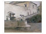 The Fountain, Italy Gicléetryck av Carl Holsoe