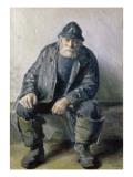 Skagen Fisherman Gicléetryck av Michael Peter Ancher