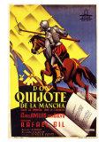 Don Quixote, Spanish Movie Poster, 1934 Giclée-Premiumdruck